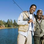 male incontinence | Urology Associates | Denver Metro | senior father and adult son fishing