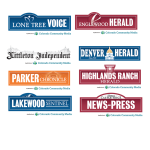 Logos from the Colorado Community Media placements on the vasectomy giveaway   Urology Associates   Denver